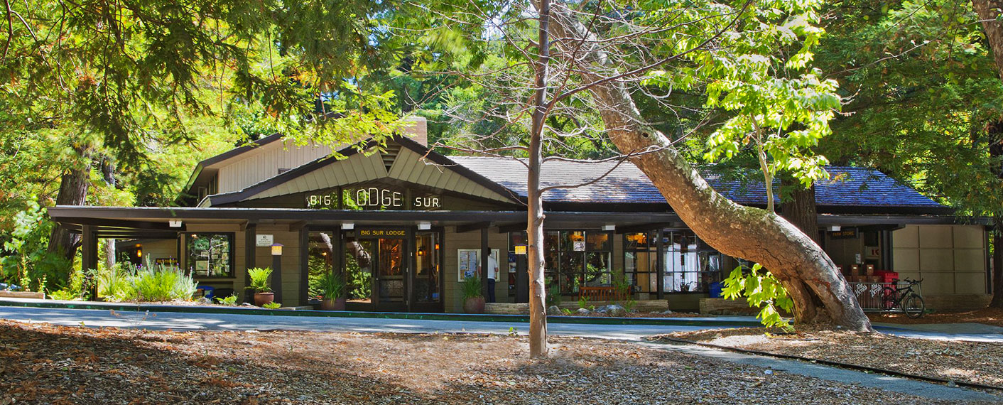 Exterior of Big Sur Lodge Entrance