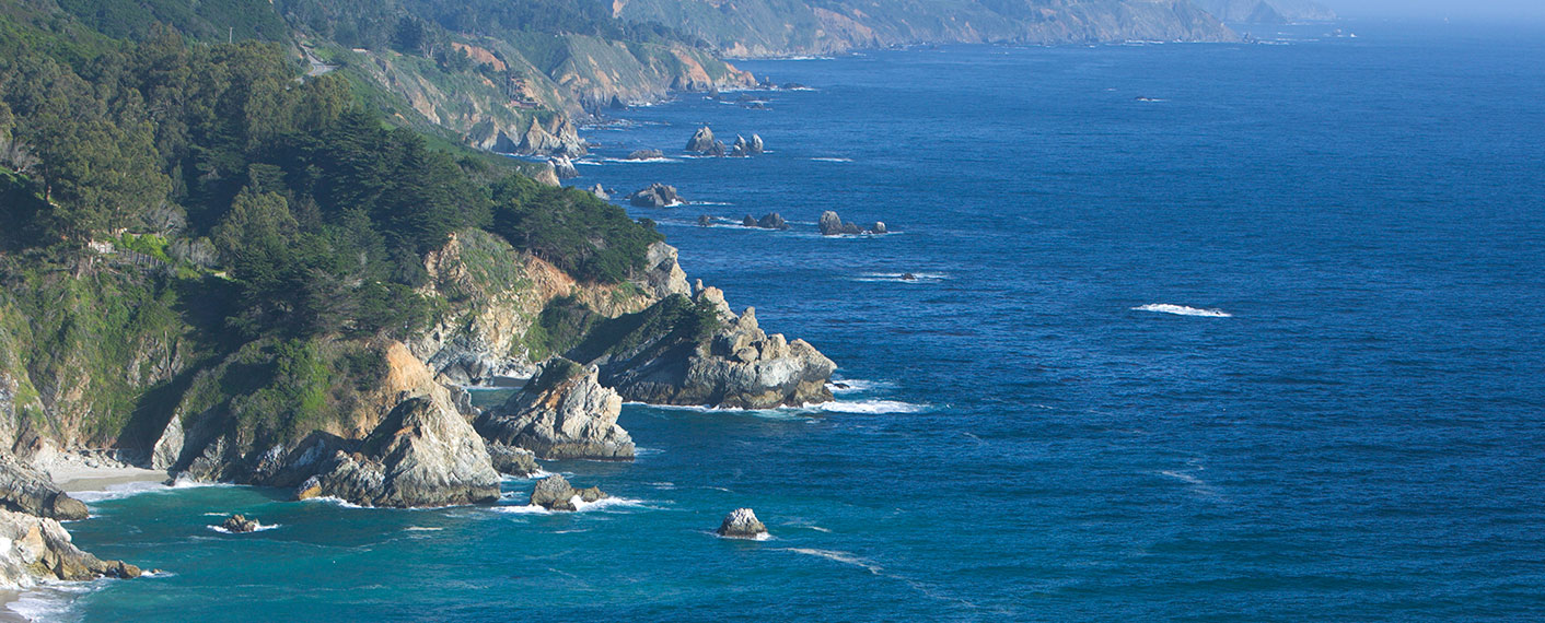 View of Coastline from Big Sur Lodge