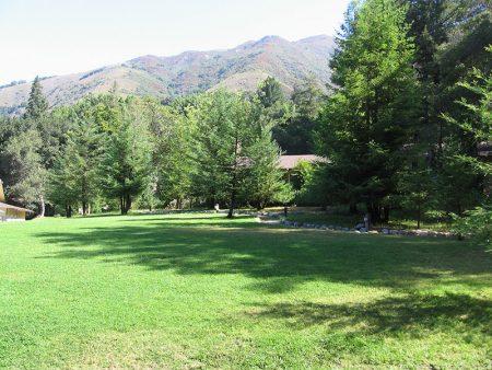 Grass Field Near Big Sur Lodge
