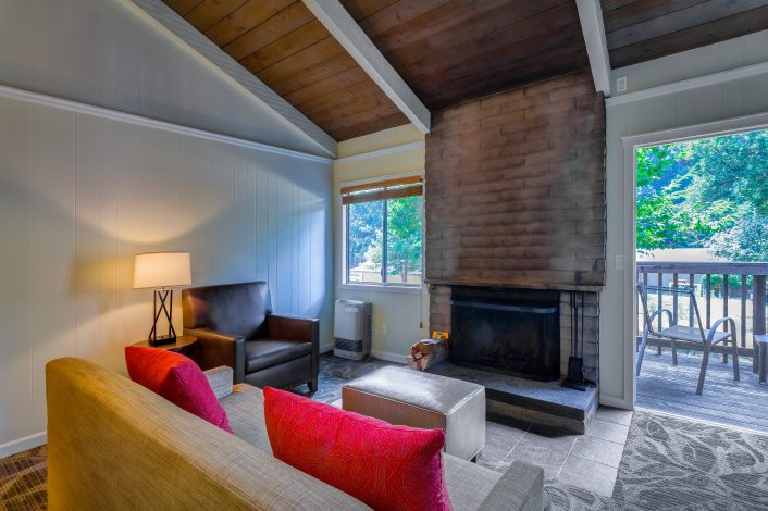 Fireplace/Kitchenette Cottage | Room Features | Accommodations | Big Sur Lodge