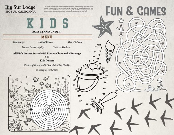 Big Sur Lodge Kids Menu